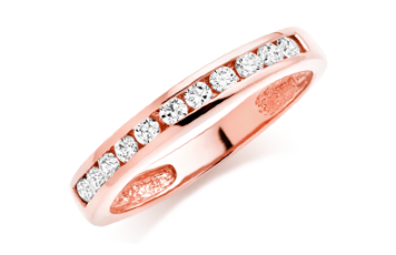 Rose Gold Plated Cubic Zirconia Stacking Ring