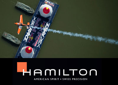 Hamilton At The Red Bull Air Race