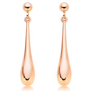 9ct Rose Gold Drop Earrings