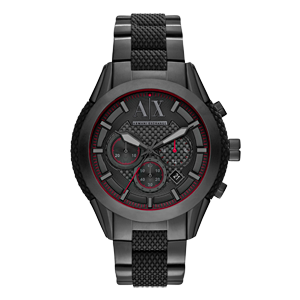 Armani Exchange Black Ion Plated Chronograph Men's Watch