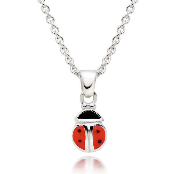 Mini B Silver Ladybird Pendant