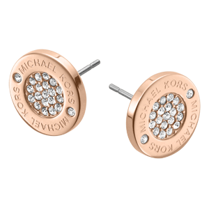 Michael Kors Rose Gold Tone Pave Stud Earrings