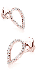 CARAT* Rose Gold Plated Silver Brilliant Earrings