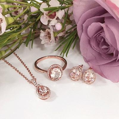 Rose Gold Morganite Jewellery