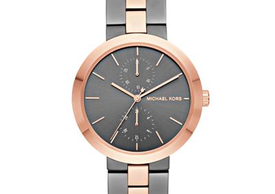 Michael Kors Garner Rose Gold Tone and Steel Ladies Watch