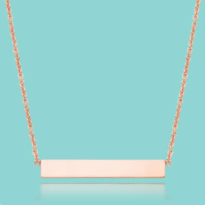 9ct Rose Gold Bar Necklace