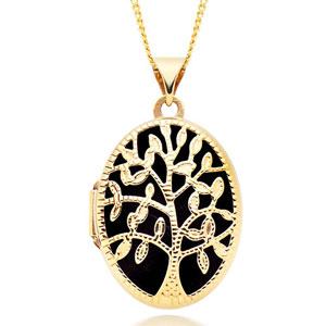 9ct Gold Tree of Life Locket Pendant