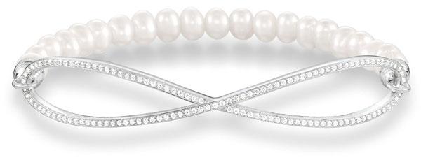 Thomas Sabo Love Bridge Silver Fresh Water Cultured Pearl Cubic Zirconia Bracelet