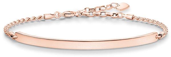 Thomas Sabo Love Bridge 18ct Rose Gold Plated Silver Bracelet
