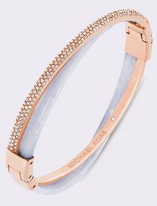 Michael Kors Wisteria Rose Gold Tone Cubic Zirconia Bracelet