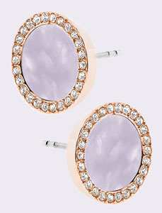 Michael Kors Wisteria Rose Gold Tone Cubic Zirconia Stud Earrings