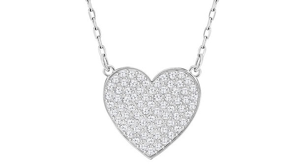 Swarovski Cupid Small Heart Crystal Necklace
