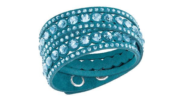 Swarovski Slake Aqua Dot Crystal Bracelet