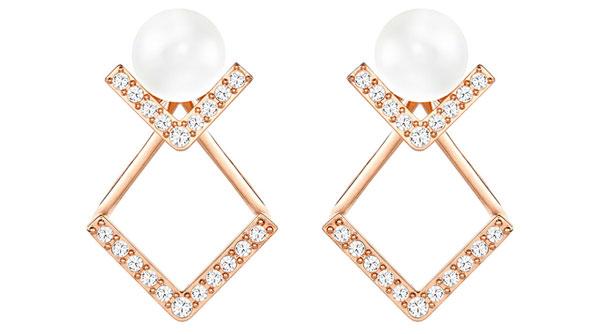 Swarovski Edify Rose Gold Plated Crystal Earrings