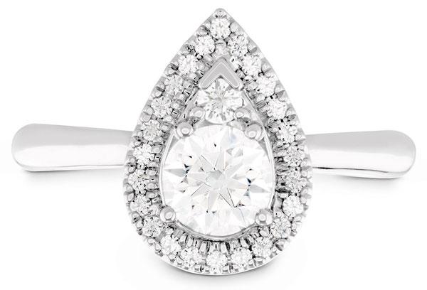 Hearts on Fire Platinum Diamond Teardrop Ring