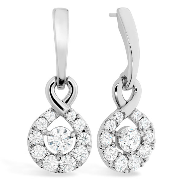 Hearts on Fire Optima 18ct White Gold Diamond Earrings
