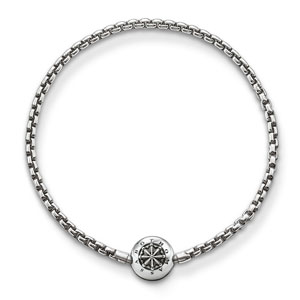 Thomas Sabo Karma Beads Blackened Silver Bracelet