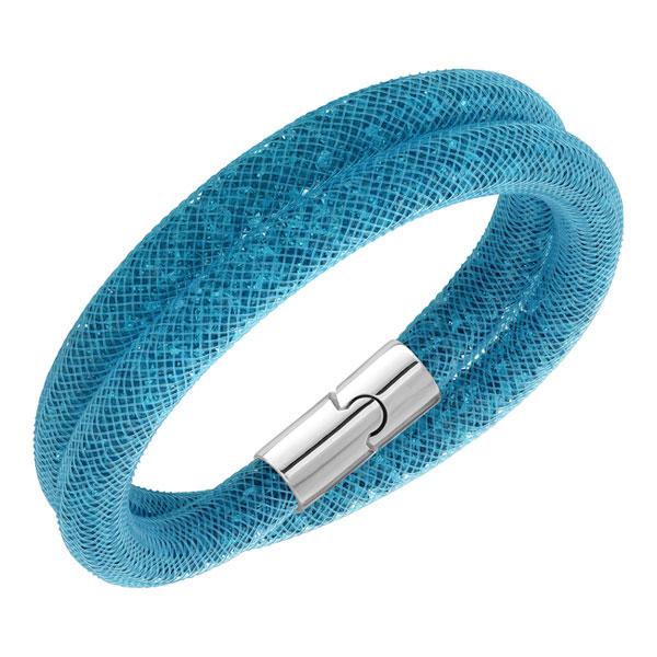Swarovski Stardust Blue Crystal Double Wrap Bracelet
