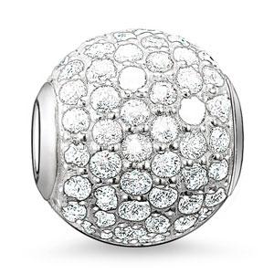 Thomas Sabo Karma Beads Silver Cubic Zirconia White Pave Bead