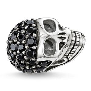 Thomas Sabo Karma Beads Silver Cubic Zirconia Skull Pave Bead
