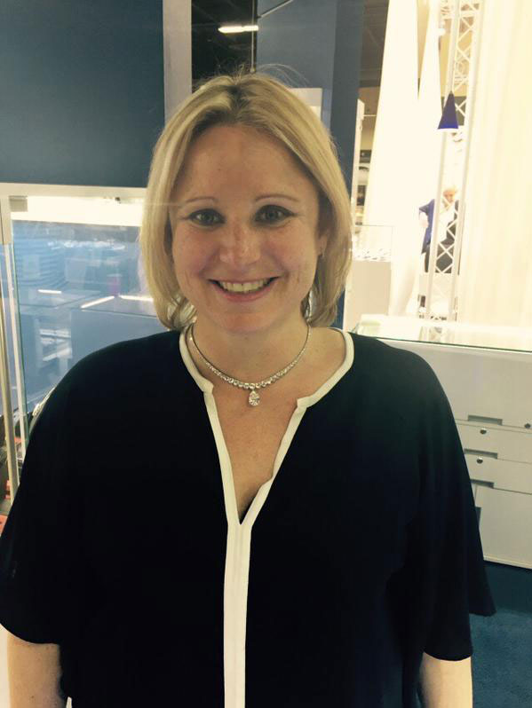 Our CEO Anna falling in love with a diamond collar with a pear drop 7.33ct E VVS