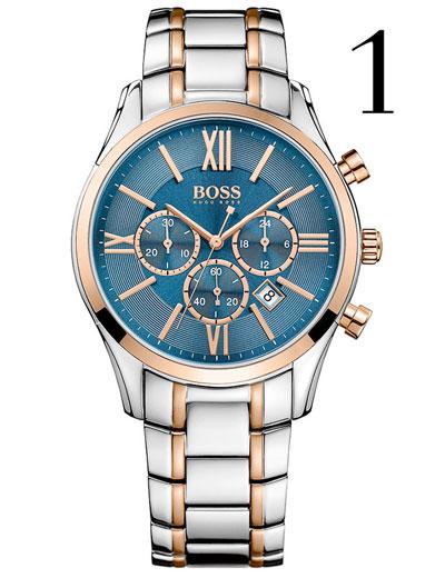 Hugo Boss Ambassador Steel and Rose Gold Tone Chronograph Men's Watch