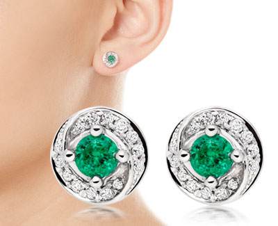 Stone of the Month Emerald Earrings