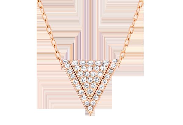 Swarovski Delta Rose Gold Plated Crystal Pendant