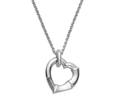 Gucci Bamboo Silver Heart Necklace