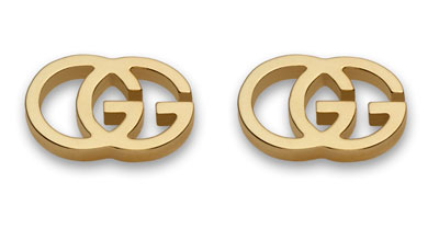 Gucci Double G 18ct Gold Stud Earrings