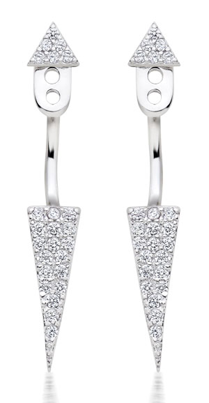 Silver Cubic Zirconia Earring Jackets