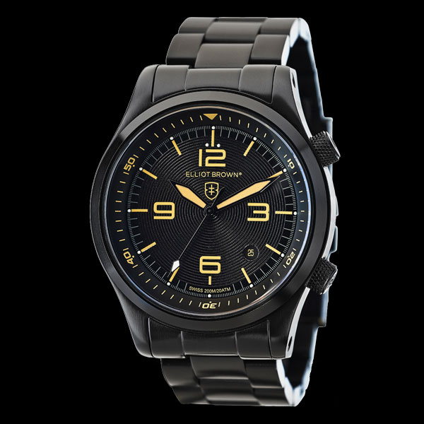 Elliot Brown Canford Black Ion Plated Men's Watch