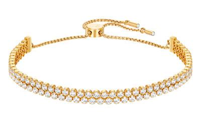 Swarovski Subtle Gold Plated Crystal Bracelet