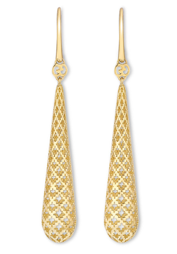 Gucci Diamantissima 18ct Gold Drop Earrings