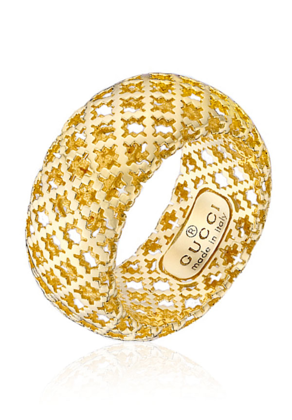 Gucci Diamantissima 18ct Gold Ring
